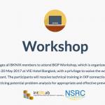 BGP Peering Workshop, 17-20 May 2017